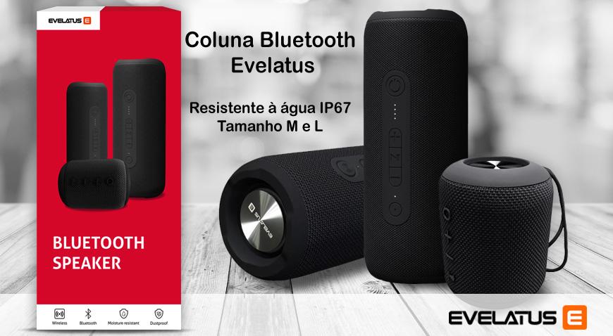 Coluna Bluetooth Evelatus