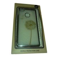 Huawei P9 Lite Capa Protecção Beeyo Transparente Prata - Flor