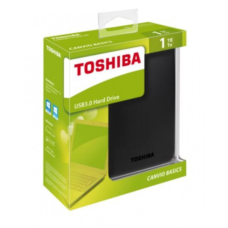 Disco Externo Toshiba 2,5P 1TB 3.0 CANVIO BASICS Preto
