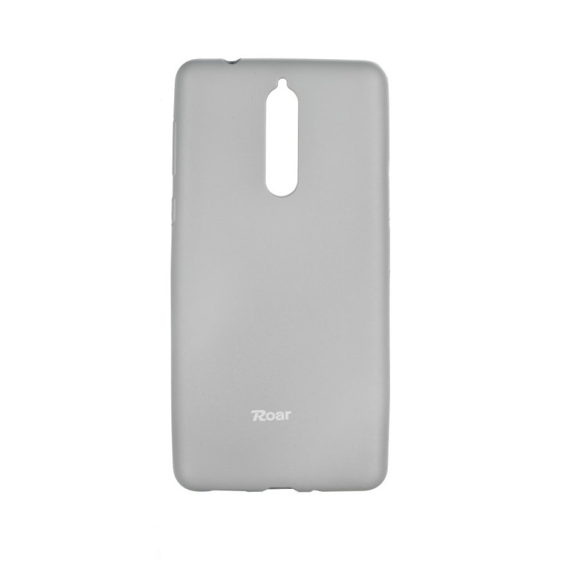 Nokia 8 2017 Capa de proteção Roar Jelly Cinza