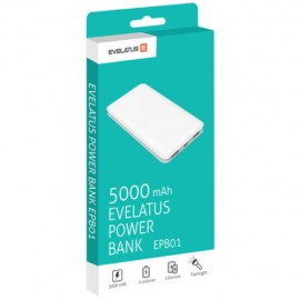 Power Bank EPB01 5000mAh Evelatus Branca