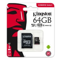 Micro SD Kingston 64GB class10 (80MB/s-10MB/s)