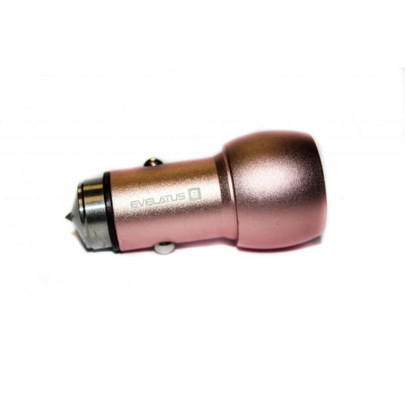 Adaptador de Viagem Evelatus ECC01 3.1A 2USB Rosa