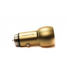 Adaptador de Viagem Evelatus ECC01 3.1A 2USB Dourado