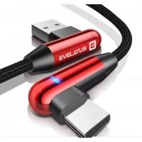 Cabo Dados USB Evelatus Type-C TPC05 Vermelho
