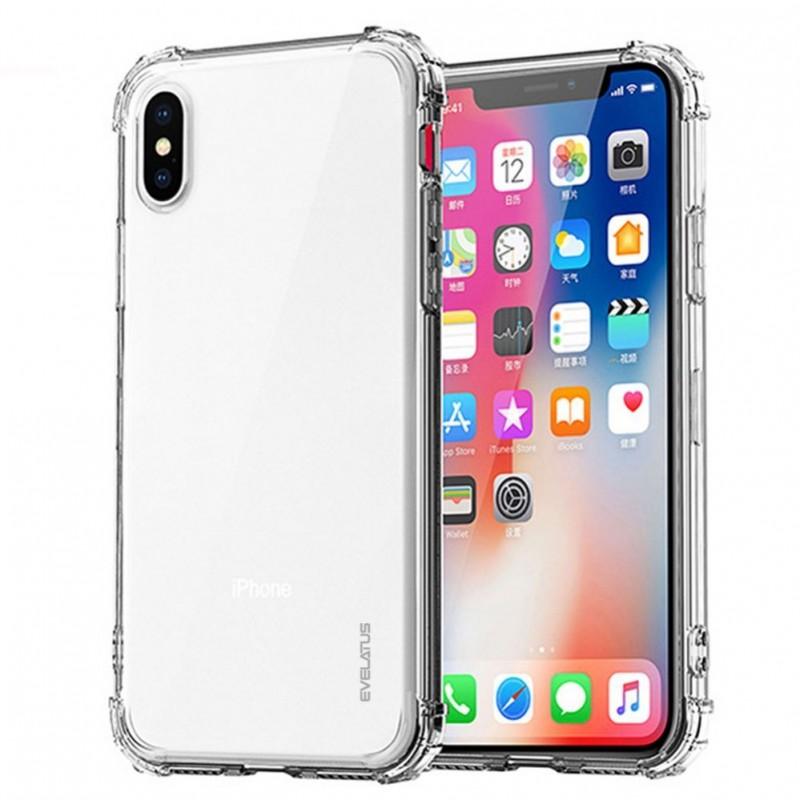 iPhone X/XS Capa de Proteção Evelatus Antichoque Transparente