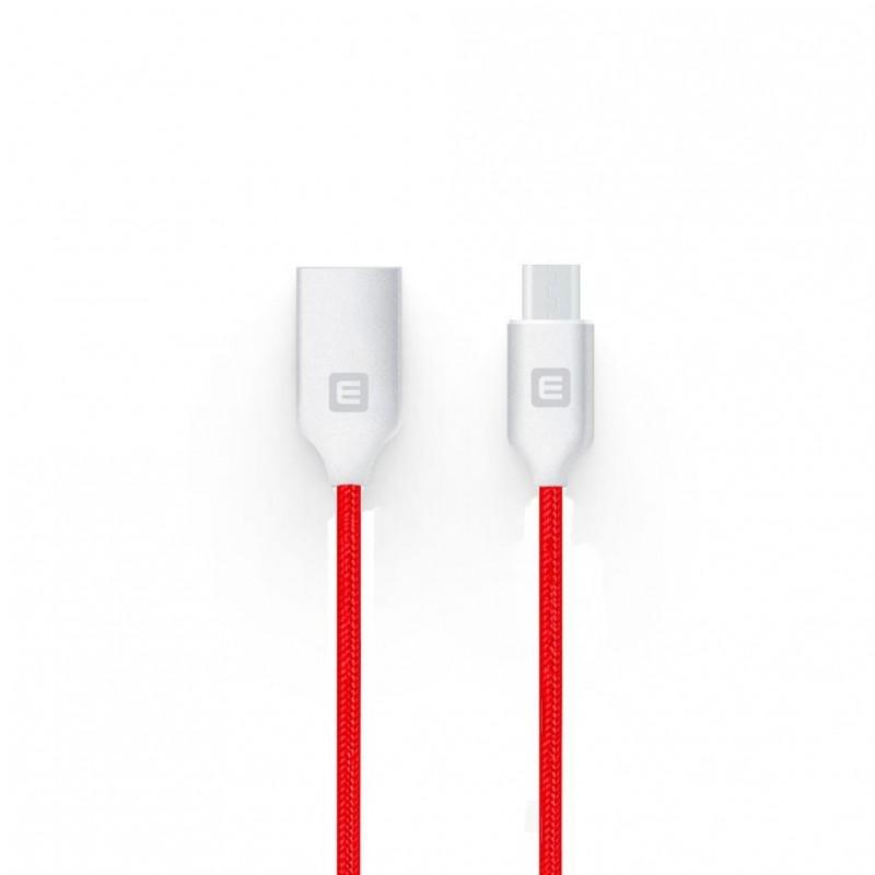 Cabo Evelatus Micro USB EDC04 Red