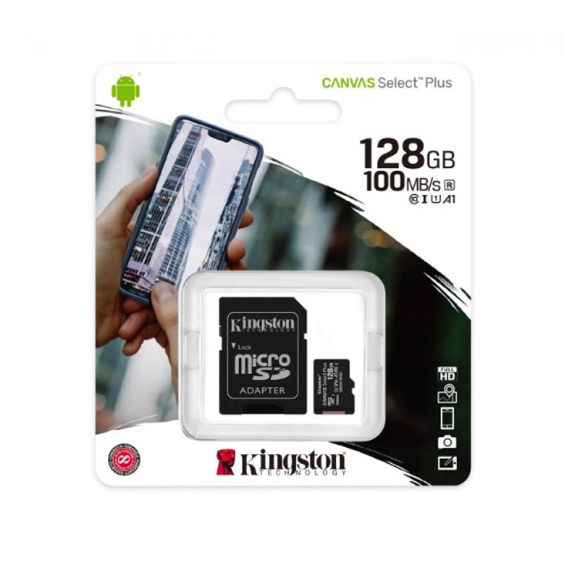 Cartão Micro SD Kingston Canvas Select Plus 128GB class10