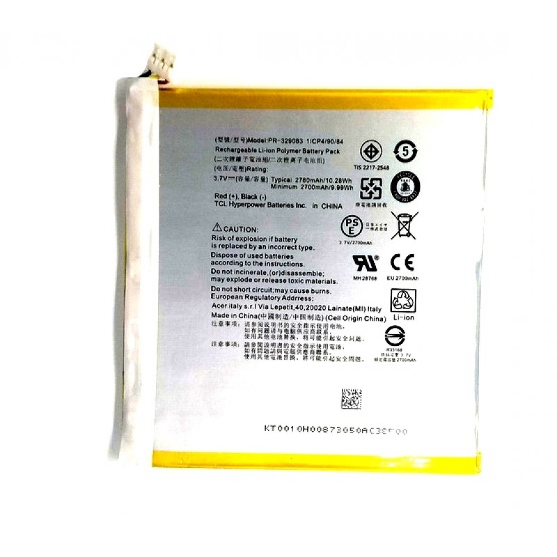 Acer Iconia One 7 B1-780 Bateria