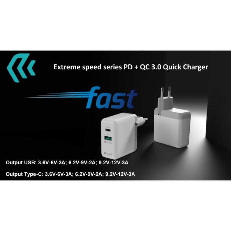 Adaptador de Carga Devia Extreme speed Quick charger 36W