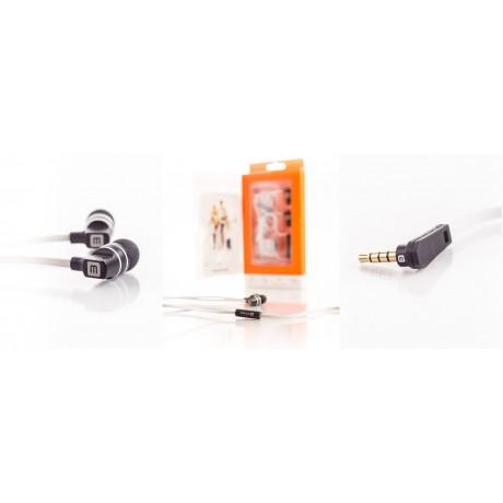Auricular Evelatus EEP01 com microfone Branco