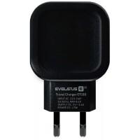 Adaptador de Carga Evelatus 2x USB 3.4A ETC03 Preto