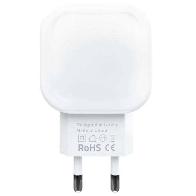 Adaptador de Carga Evelatus 2x USB 3.4A ETC03 Branco