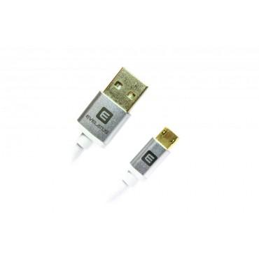Cabo Micro USB Evelatus EDC02 Branco