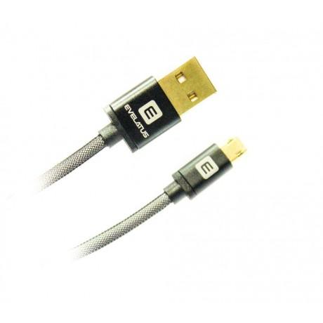 Cabo Micro USB Evelatus EDC02 Preto