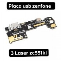 Asus Zenfone 3 Laser ZC551KL Flex Carga C/ Micro