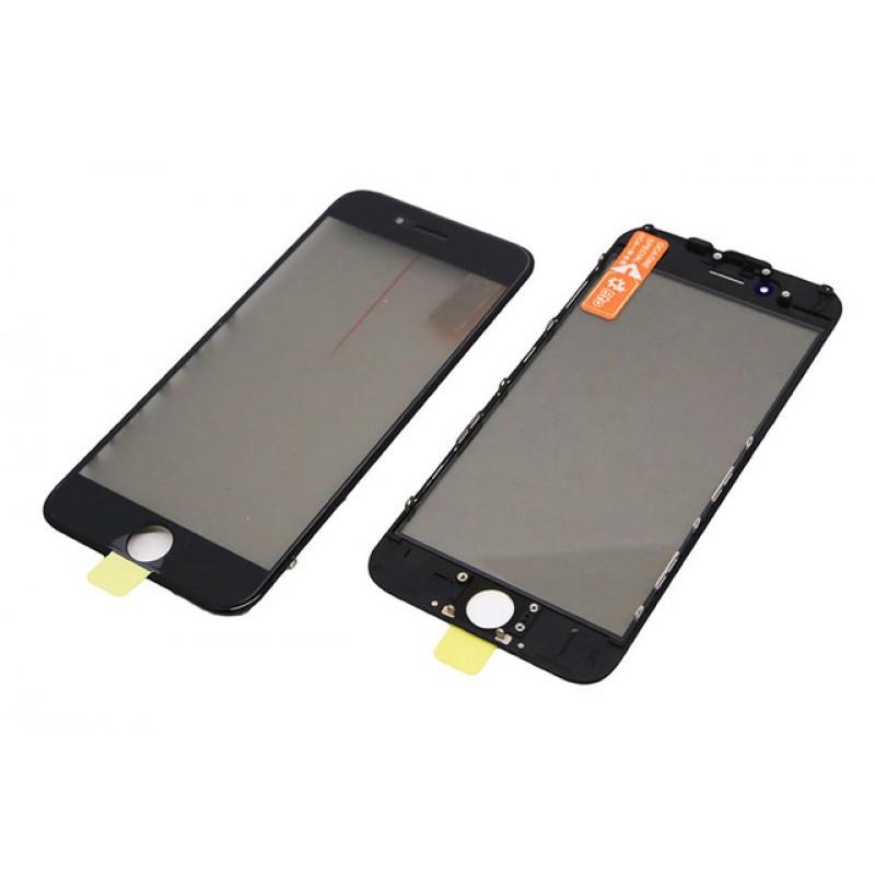 Iphone 7 Vidro + Frame + Oca + Polarizer Preto