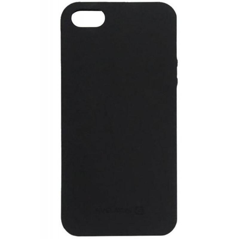 Samsung A6 Plus 2018  Capa de Proteção Traseira Evelatus Silicone Case Black