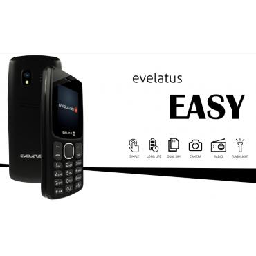 Telemóvel Evelatus EASY01 (EE01) Black Novo Livre