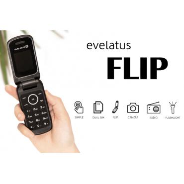 Telemóvel Evelatus FLIP EF01 Dual Sim Black Novo Livre