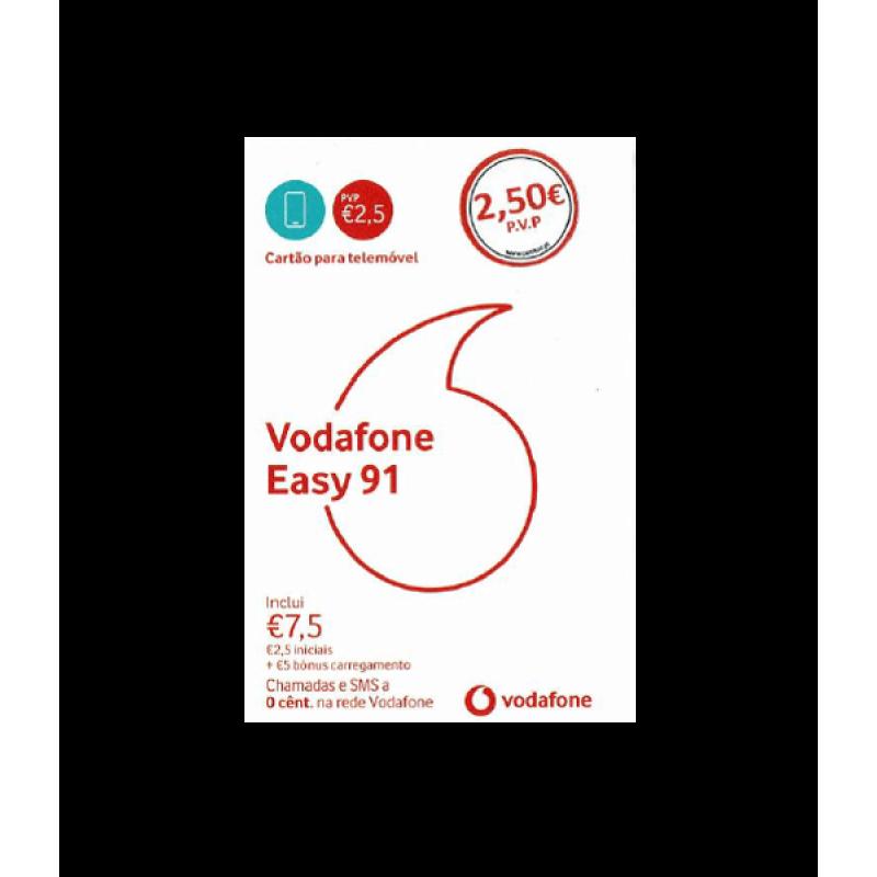 Cartão SIM Vodafone Easy 91