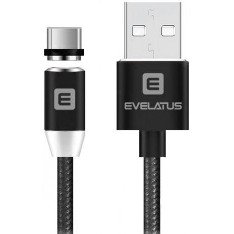 Cabo Dados USB Evelatus 3 em 1 Magnético (Lightning, Type-C, Micro USB ) LTM02 Black