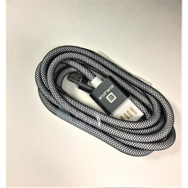 Cabo Micro USB Evelatus  EDC01 Dual Side - Bulk Grey