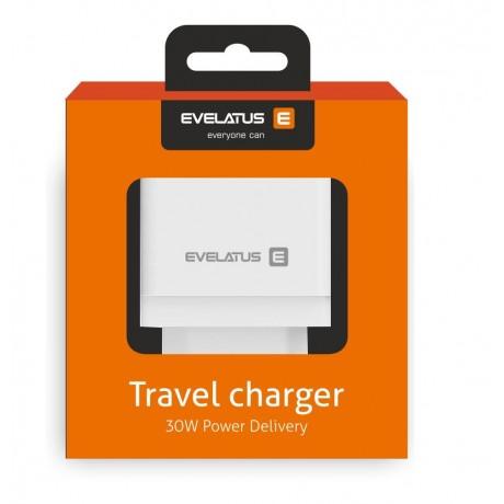 Adaptador de Carga Evelatus ETC04 USB  + Type-C Black