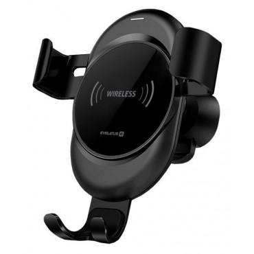 Suporte de Carro Evelatus com Carregador Wireless WCH02 Black