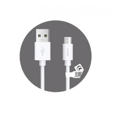 Cabo Micro USB Devia Kintone series Branco