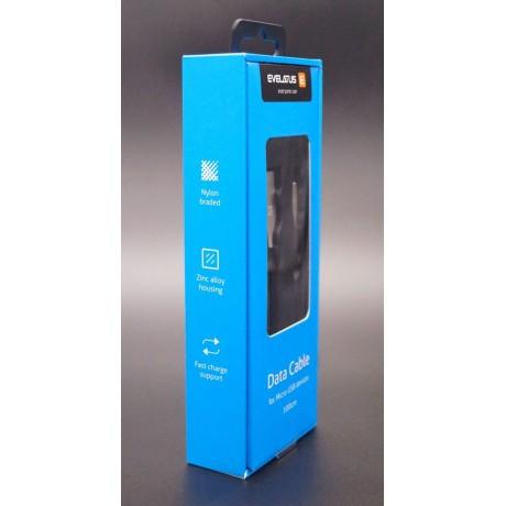 Cabo Evelatus Micro USB EDC04 Black