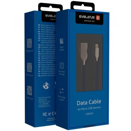Cabo Evelatus Micro USB EDC04 Blue